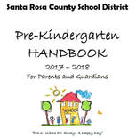 front cover of program pre-k handbook click picture to view contents